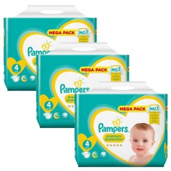 234 Couches Pampers new baby - premium protection taille 4