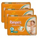 180 Couches Pampers Sleep & Play taille 4 sur Sos Couches