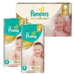120 Couches Pampers Premium Care - Prima taille 4