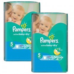 176 Couches Pampers Active Baby Dry taille 5
