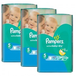 264 Couches Pampers Active Baby Dry taille 5