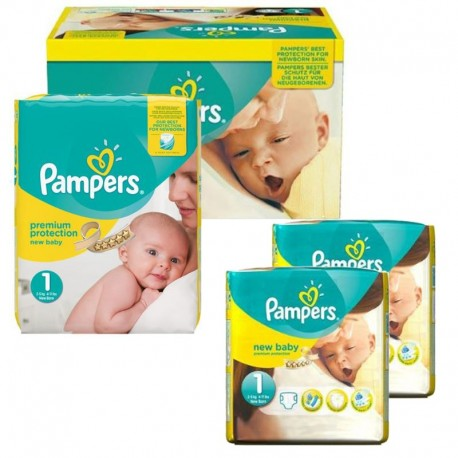 192 Couches Pampers new baby - premium protection taille 1 sur Sos Couches