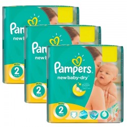 129 Couches Pampers New Baby Dry taille 2