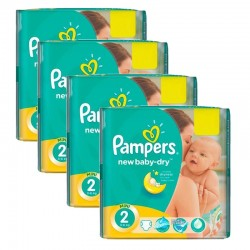 215 Couches Pampers New Baby Dry taille 2
