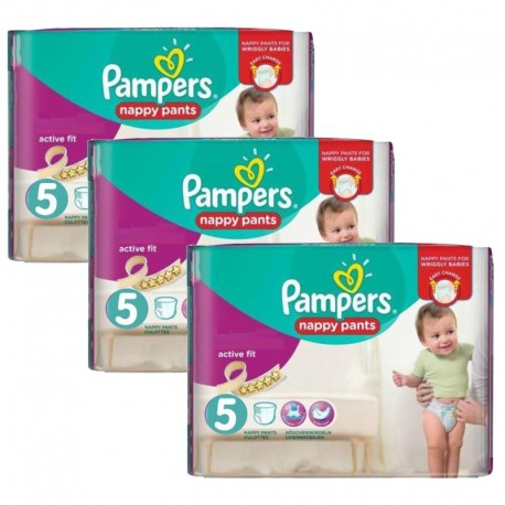 120 Couches Pampers Active Fit Pants taille 5 sur Sos Couches