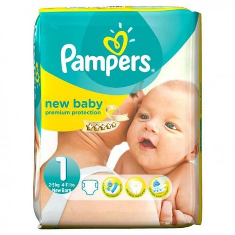56 Couches Pampers New Baby taille 1 sur Sos Couches