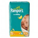 43 Couches Pampers New Baby Dry taille 1 sur Sos Couches