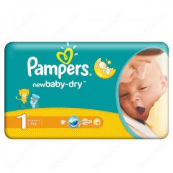 43 Couches Pampers de la gamme New Baby Dry de taille 1 sur Sos Couches
