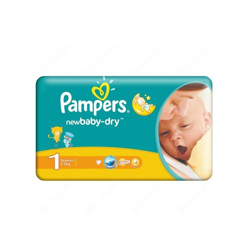 Achat 43 Couches Pampers New Baby Dry Taille 1 En Solde Sur Sos Couches