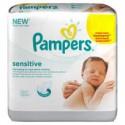 288 Lingettes Bébés Pampers Sensitive - 24 Packs de 12 sur Sos Couches
