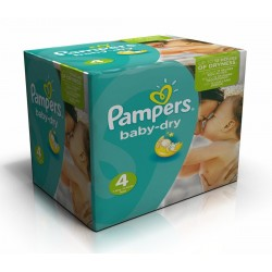 308 Couches Pampers Baby Dry taille 4