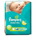 46 Couches Pampers Baby Dry taille 2 sur Sos Couches