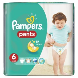 14 Couches Pampers Baby Dry Pants taille 6