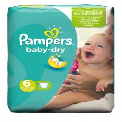 58 Couches Pampers Baby Dry taille 6 sur Sos Couches