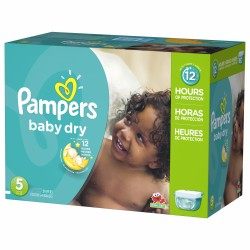242 Couches Pampers Baby Dry taille 5