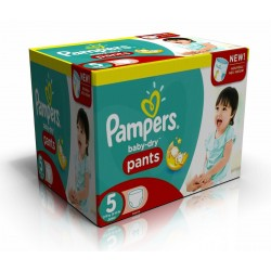156 Couches Pampers Baby Dry Pants taille 5