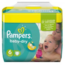 124 Couches de Pampers Baby Dry de taille 6 sur Sos Couches