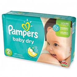 290 Couches de Pampers Baby Dry de taille 2 sur Sos Couches