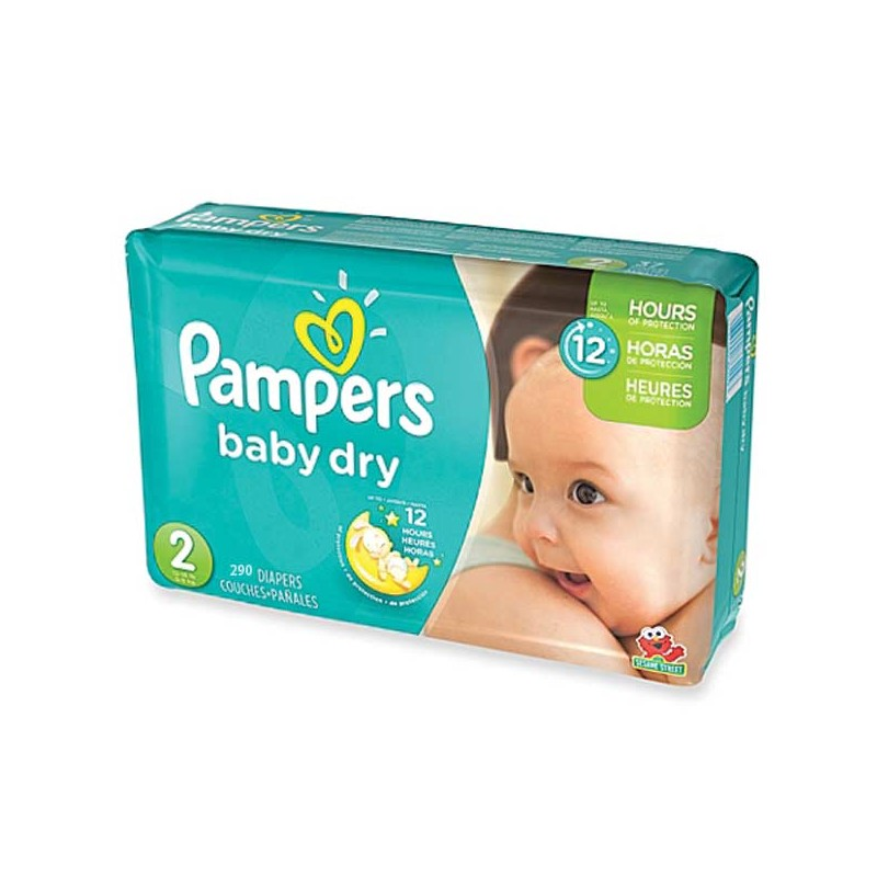 Achat 290 couches pampers baby dry taille 2 en solde sur sos couches - Couches pampers baby dry ...